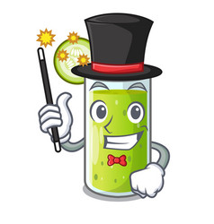 Magician sweet cucumber juice isolated on mascot vector