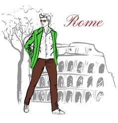 Man in Rome vector