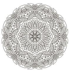 Mandala zentangl doodle drawing coloring vector