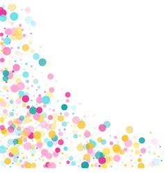Memphis round confetti festive background vector