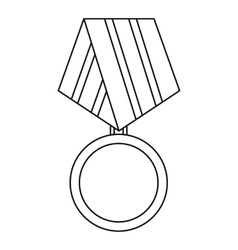 Military medal icon outline style vector image