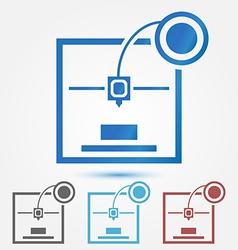 Minimal 3d printer icon vector