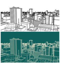 modern city sketch vector image