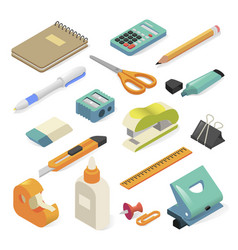 Office tools and business stationery for workplace vector