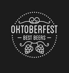Oktoberfest beer festival lettering typography vector