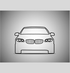 outlines of front sports cars vector image