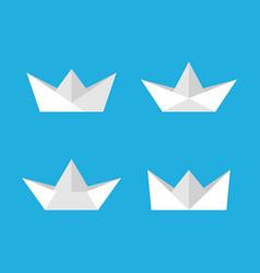 paper boats set vector image
