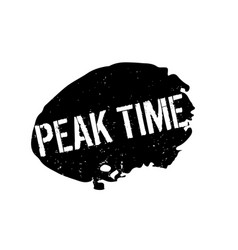 Peak time rubber stamp vector