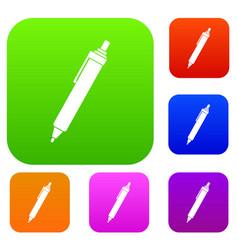 pen set color collection vector image