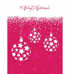 Pink Christmas vector