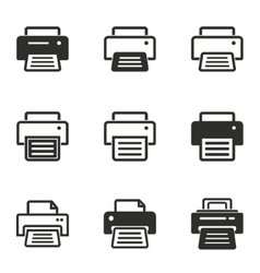 Printer icon set vector image