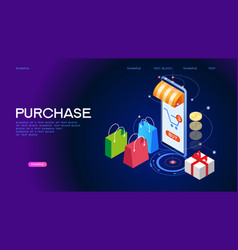 purchase banner vector image