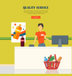 quality service concept vector image