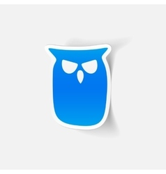 Realistic design element owl vector