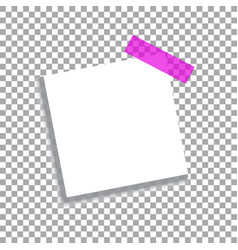 Realistic square white sheet with shadows vector