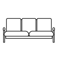 Retro sofa icon outline style vector