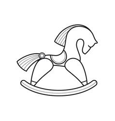 Rocking wooden horse vector