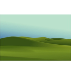 Rural landscape with green hills vector image