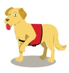 service dog cartoon vector image