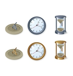 set of clocks vector image