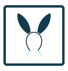 Sexy bunny ears icon vector