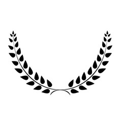 sign laurel wreath black 203 vector image