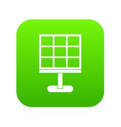 solar battery icon digital green vector image