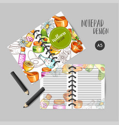 Spa organizer hand drawn cosmetics and vector