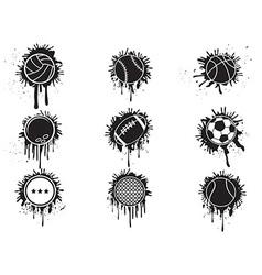 splatter balls icon vector image