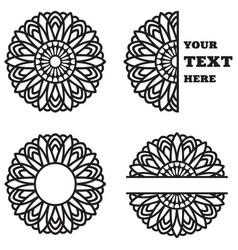 Sunflower monograms vector