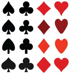 symbols on playing cards vector image