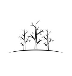 trees black design element vector image
