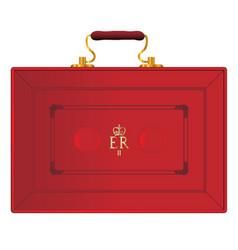 United kingdom red budget box vector