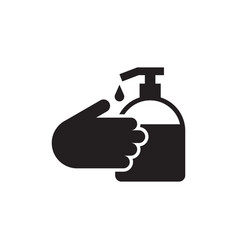 wash your hands vector image