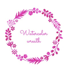 watercolor wreath vector image