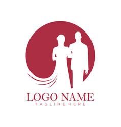 wedding service logo and icon vector image