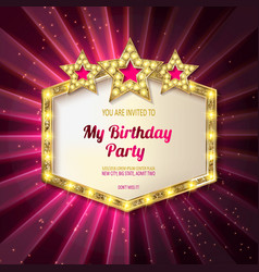 You are invited to a birthday party vector