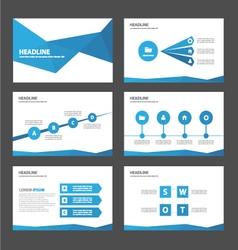 Blue presentation templates Infographic elements vector image