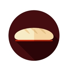 Bread flat icon with long shadow vector image vector image