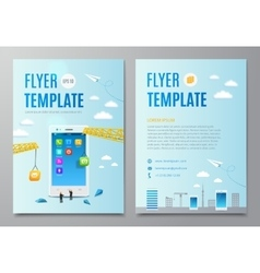 Design layout flyer Construction smartphone vector image
