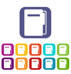 file folder icons set flat vector image