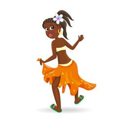 girl is dancing vector image vector image
