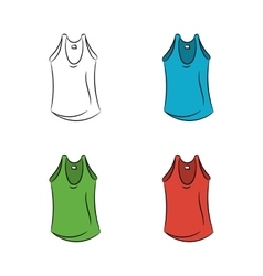 Set of colorful t-shirts vector image