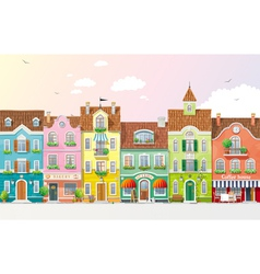Summer cityscape 3 vector image