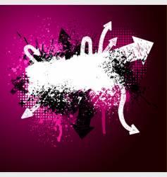 arrow paint splatter vector image vector image