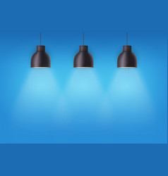 retro metal stylish ceiling cone lamps vector image vector image
