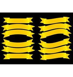 Ribbon Banner Gold vector image