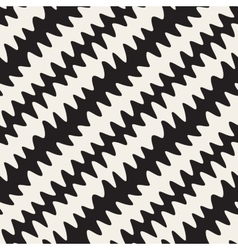 Seamless Black and White Hand Drawn ZigZag vector image vector image