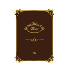 vintage menu template with gold elements vector image vector image
