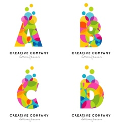 Creative Alphabet Letters vector image